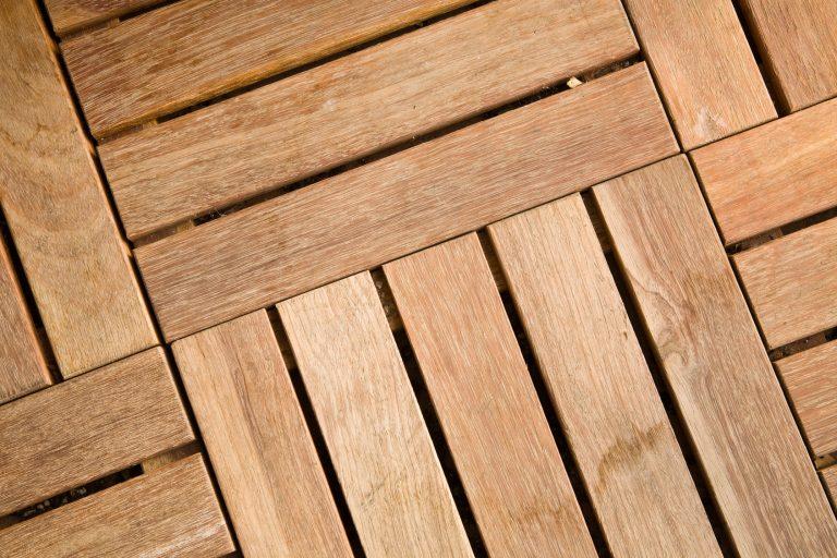 Wood tile decking