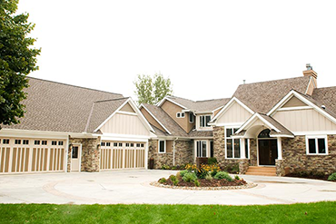 Garage addition and exterior enhancements to the entire home.